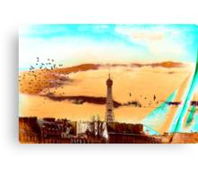Parisian Mosaic - Piece 20 - The Eiffel Tower Canvas Print