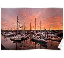 Marina Sunrise Poster