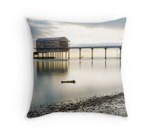 Bembridge Lifeboat House Throw Pillow