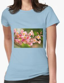 red chestnut tree blossoms Womens Fitted T-Shirt