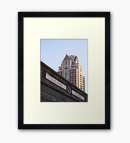 Union Plaza  Framed Print