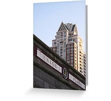 Union Plaza  Greeting Card