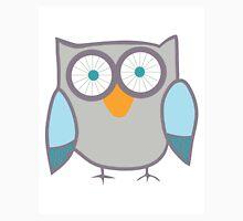 Cute Owl Blue Grey Unisex T-Shirt