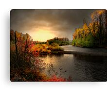 Glow On The Willamitte River Canvas Print