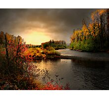 Glow On The Willamitte River Photographic Print