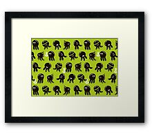 Black cute octopuses Framed Print