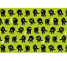 Black cute octopuses Photographic Print