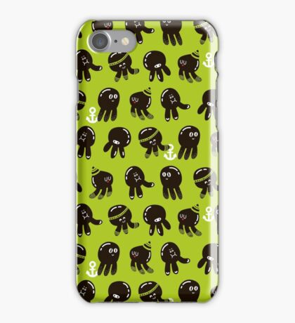 Black cute octopuses iPhone Case/Skin