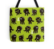 Black cute octopuses. Tote Bag