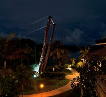 Palms Resort Suspension Bridge, Vanuatu by asskwoo