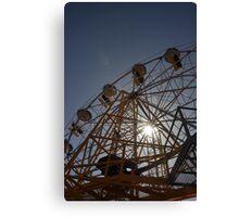 Ferris Wheel with Sun, Luna Park Canvas Print