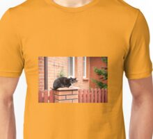 lonely stray black cat  Unisex T-Shirt
