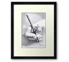 Hands On - Self-portrait Framed Print