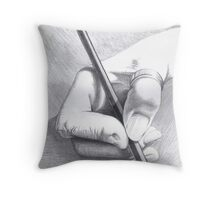 Hands On - Self-portrait Throw Pillow