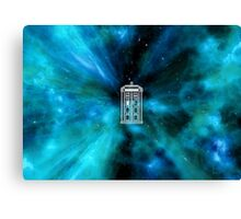Tardis in Time and Space Canvas Print