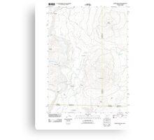 USGS Topo Map Oregon Parker Mountain 20110812 TM Canvas Print