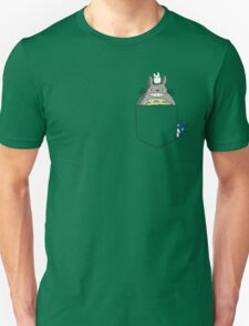 Totoro Pocket, With Little Totoro's Studio Ghibli Unisex T-Shirt