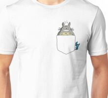 Totoro Pocket, With Little Totoro's Studio Ghibli Unisex T-Shirt