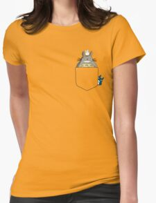 Totoro Pocket, With Little Totoro's Studio Ghibli Womens Fitted T-Shirt