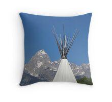 Teton Tipi Throw Pillow