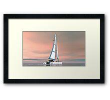 Cat Sailing Framed Print