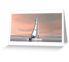 Cat Sailing Greeting Card