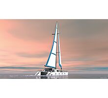 Cat Sailing Photographic Print