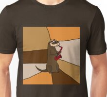 Funny Ferret Playing Red Saxophone Original Art Unisex T-Shirt