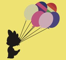 Black Spike Silhouette with Balloons Kids Clothes