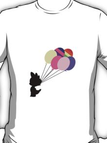 Black Spike Silhouette with Balloons T-Shirt