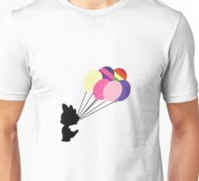 Black Spike Silhouette with Balloons Unisex T-Shirt