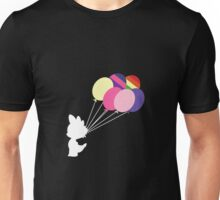 White Spike Silhouette with Balloons Unisex T-Shirt