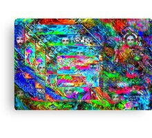Cubical Gray Matter Canvas Print