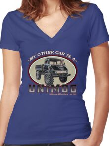 My other car is a UNIMOG Women's Fitted V-Neck T-Shirt