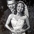 Wedding portrait by db artstudio by Deborah Boyle