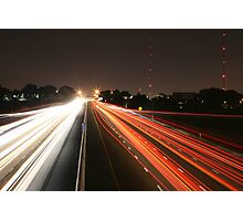 Night Time Travel Light Trails Photographic Print