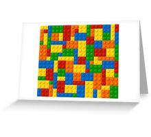 Plastic Blocks Greeting Card