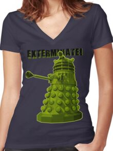 EXTERMINATE ARMY Women's Fitted V-Neck T-Shirt