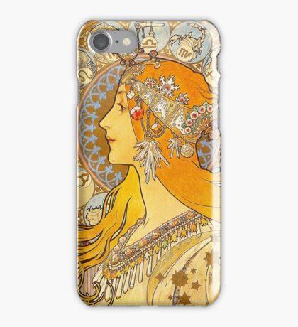Alphonse Mucha - Zodiac iPhone Case/Skin