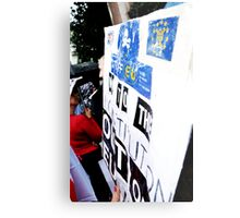British Patriots Society March Against, Foreign Aid 20/08/11 Metal Print