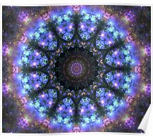 The Dark Forest I - Blue, Green, Purple Kaleidoscope Poster