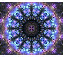 The Dark Forest I - Blue, Green, Purple Kaleidoscope Photographic Print