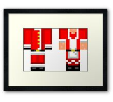 Minecraft Skin Christmas Duvet Cover Bedding Framed Print
