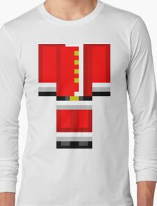 Minecraft Skin Santa Duvet Cover Christmas Bedding Long Sleeve T-Shirt