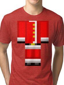 Minecraft Skin Santa Duvet Cover Christmas Bedding Tri-blend T-Shirt