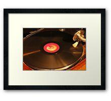 OLD RECORD Framed Print