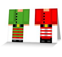 Minecraft Skin Christmas Duvet Cover Elf Bedding Greeting Card