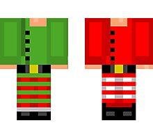 Minecraft Skin Christmas Duvet Cover Elf Bedding Photographic Print