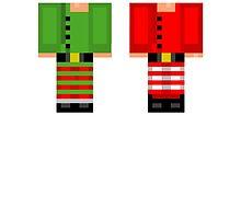 Minecraft Skin Christmas Duvet Cover Elf Bedding by HyperDerpz