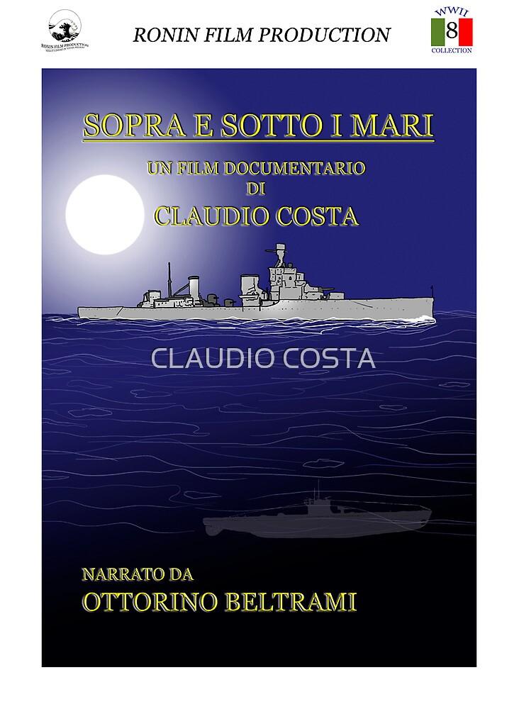 """MOVIE POSTER 8 """"Sopra e sotto i mari"""" by CLAUDIO COSTA"""